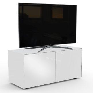 An Image of Frank Olsen Smart LED 2 Door TV Unit -White