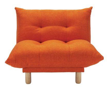 An Image of Habitat Kota Fabric Armchair - Orange