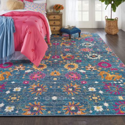 An Image of Denim Passion Rug Blue