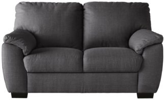 An Image of Argos Home Milano Fabric Chair and 2 Seater Sofa - Charcoal
