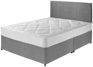 An Image of Argos Home Elmdon Comfort Small Double Divan Bed - Grey