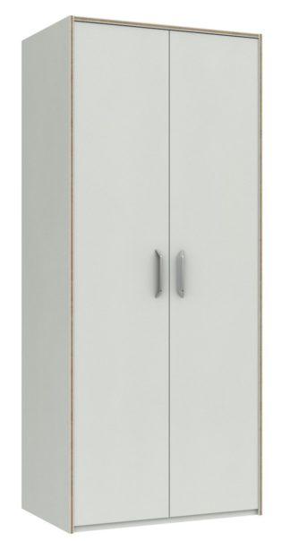An Image of Ashdown 2 Door Wardrobe - White