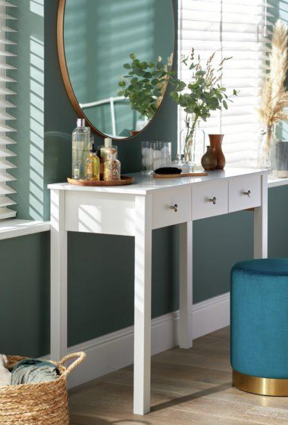 An Image of Habitat Osaka 3 Drawer Dressing Table Desk - White