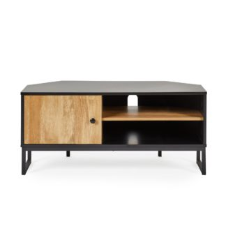 An Image of Greenwich Corner TV Stand Black and Brown