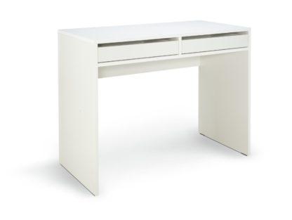 An Image of Habitat Pepper 2 Drawer Desk - White