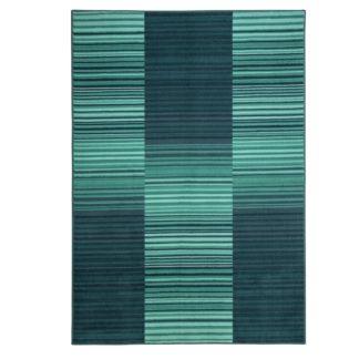 An Image of Habitat Abstract Stripe Rug - 120x170cm - Blue