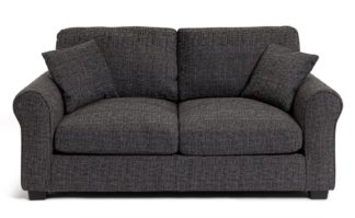 An Image of Habitat Lisbon Fabric Sofa Bed - Charcoal
