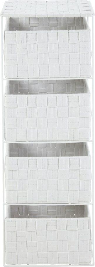 An Image of Argos Home 4 Drawer Storage Unit - White