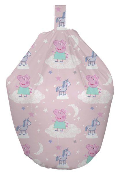 An Image of Peppa Pig Stardust Bean Bag - Pink
