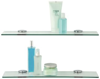 An Image of Argos Home Glass Shelves - Pack of 2