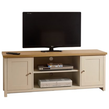 An Image of Lancaster Large TV Stand Cream
