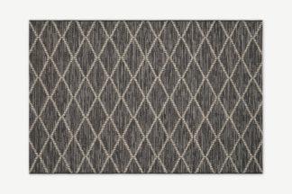 An Image of Vinonelo Indoor/Outdoor Rug, Large 160 x 230cm, Charcoal Grey