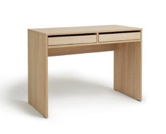 An Image of Habitat Pepper 2 Drawer Desk - Oak Effect