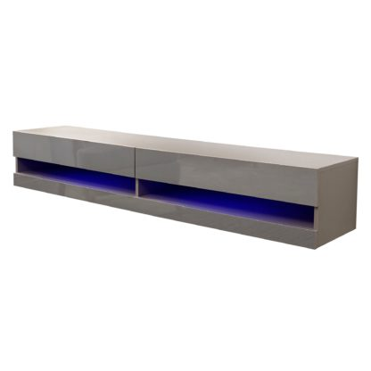 An Image of Galicia 150cm LED Wall TV Unit Black
