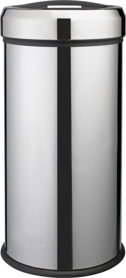 An Image of Argos Home 30 Litre Touch Top Kitchen Bin - Silver