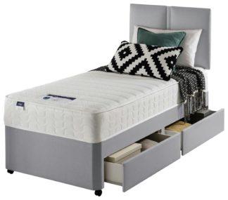 An Image of Silentnight Hatfield Microquilt 2 Drawer Divan Bed - Single