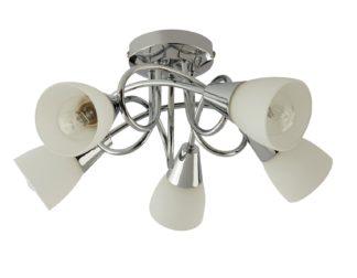 An Image of Argos Home Curico 5 Light Ceiling Light - Chrome & Glass