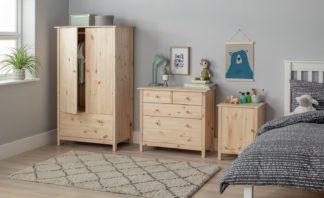 An Image of Habitat Scandinavia Kids 3 Piece 2 Door Wardrobe Set Pine