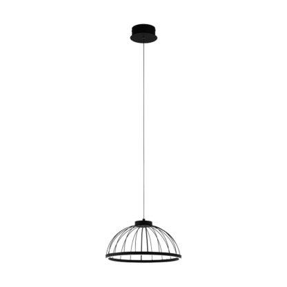 An Image of Eglo Bogotenillo LED Pendant Light - Black