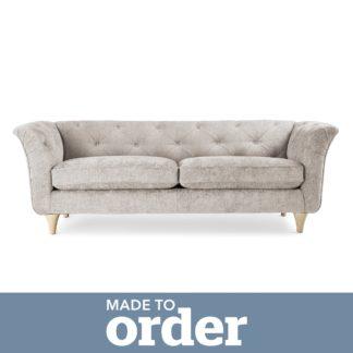 An Image of Jaipur 3 Seater Sofa Luxury Chenille Premium Chenille Sand