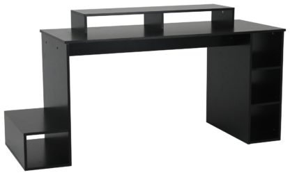 An Image of Argos Home Gaming Desk - Black