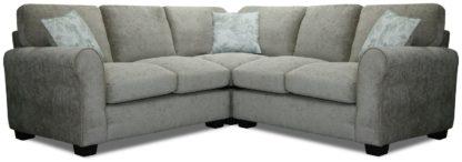 An Image of Argos Home Tammy Corner Fabric Sofa - Charcoal