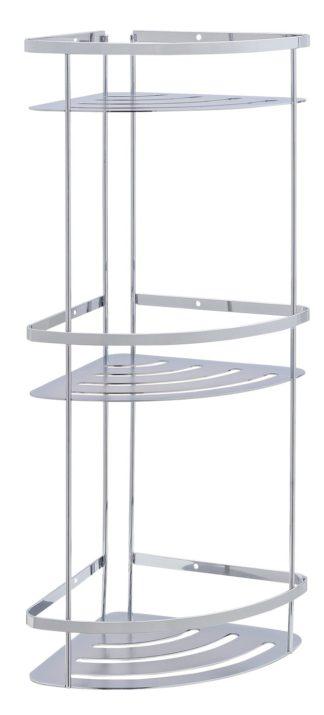 An Image of Argos Home Flat Plate 3 Tier Bathroom Corner Caddy