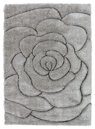 An Image of Fresno Rose Rug - 120x170cm - Grey
