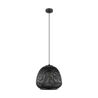 An Image of Eglo Dembleby Pendant Light - Black
