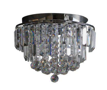 An Image of Argos Home Opulence Crystal Glass Flush Ceiling Light