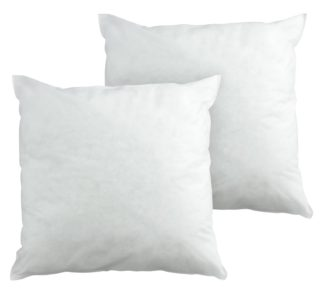 An Image of Argos Home Hollowfibre 50x50cm Cushion Pads - 2 Pack