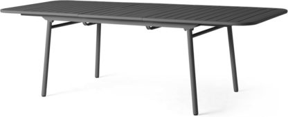 An Image of Tice Garden 8-10 Extendable Dining Table, Grey