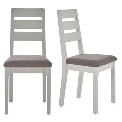 An Image of Freya Set Of 2 Dining Chairs Grey Grey