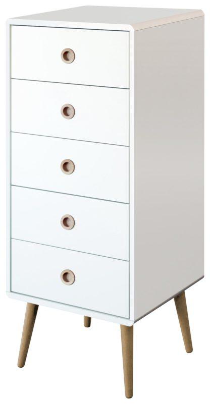 An Image of Softline 5 Drawer Chest - White