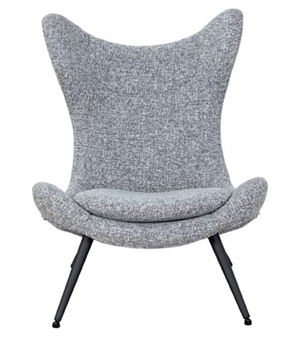 An Image of Habitat Robbie Fabric Accent Chair - Grey