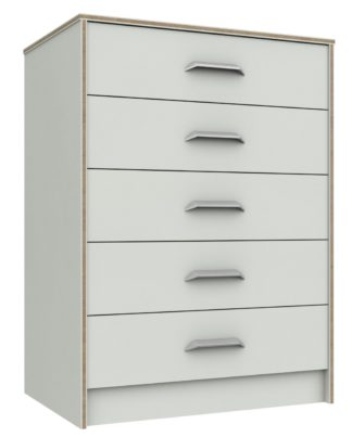 An Image of Ashdown 5 Drawer Chest - White