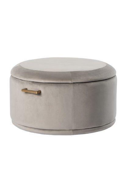 An Image of Aria Storage Ottoman - Dove Grey