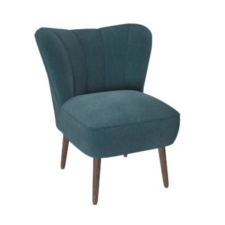 An Image of Abby Chenille Cocktail Chair - Emerald Green