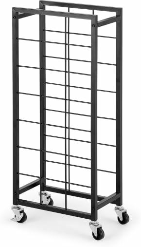 An Image of Moss 21 Bottle Wine Rack, Black