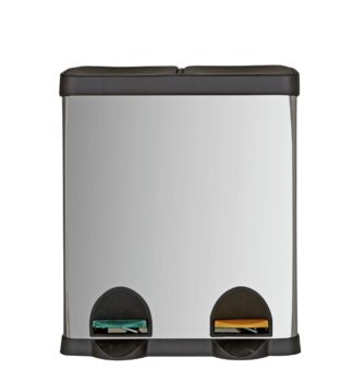 An Image of Argos Home 30 Litre Twin Compartment Recycling Bin