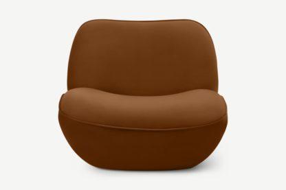 An Image of Sete Accent Armchair, Cinnamon Velvet