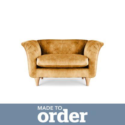 An Image of Jaipur Snuggle Chair Slub Velvet Slub Velvet Forest Green