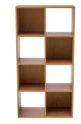 An Image of Habitat Squares 8 Cube Storage Unit - Oak Effect