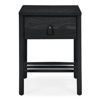 An Image of Henry Black Bedside Table Black