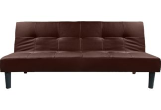 An Image of Habitat Patsy 2 Seater Clic Clac Sofa Bed - Chocolate