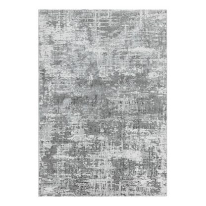 An Image of Asiatic Orion Shiny Rectangle Woven Rug - 80x150cm - Grey