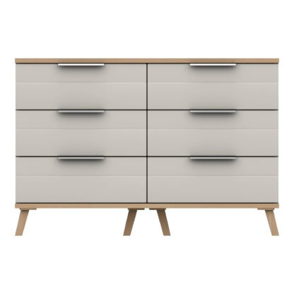 An Image of Murray 6 Drawer Wide Chest Off-White