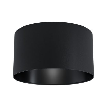 An Image of Eglo Maserlo Flush Ceiling Light - Black