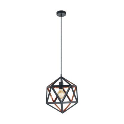 An Image of Eglo Embleton Pendant Light - Black