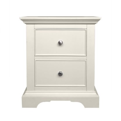 An Image of Charlotte 2 Drawer Bedside White